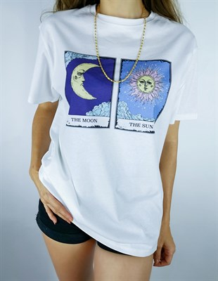 The Moon The Sun Beyaz Tshirt