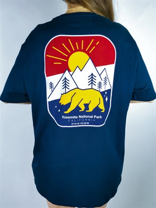 Yosemite National Park Lacivert Tshirt